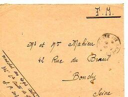 C14 1940 Lettre  En FM Du SP 203 - Marcophilie (Lettres)