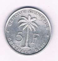 5  FRANCS 1958  BELGISCH  CONGO /6284/ - 1951-1960: Baudouin I