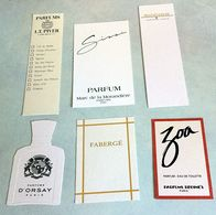 Lot Anciennes Cartes à Parfumer - Modern (vanaf 1961)