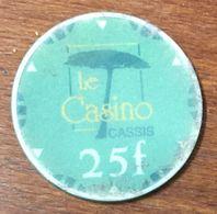 13 CASSIS CASINO JETON DE 25 FRANCS CHIP TOKEN COIN - Casino