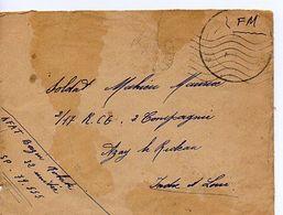 C14 194. Lettre  En FM Du SP 79555 (lettre Tachée) - Marcophilie (Lettres)