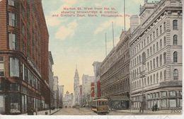 USA - PHILADELPHIA - Market St. West From 8th St. Showing Strawbridge & Clothier, And Gimbel's Dept.Store - Philadelphia