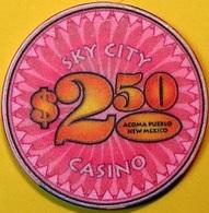 $2.50 Casino Chip. Sky City, Acoma, NM. N62. - Casino
