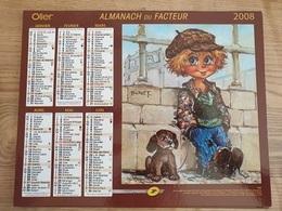 Calendrier-Almanach Des Postes P.T.T.     2008     Eure - Kalender