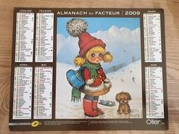Calendrier-Almanach Des Postes P.T.T.     2009     Eure - Kalender
