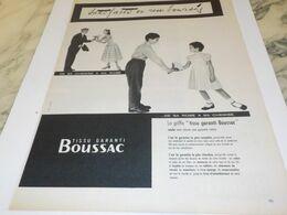 ANCIENNE  PUBLICITE  SATISFAITS OU REMBOURSES TISSUS BOUSSAC  1956 - Other