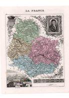 Carte Du Département De La Côte D'Or, Dressée Par Vuillemin. Atlas Migeon 1874-76. - Carte Geographique