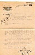 C14 1944 Lettre Préfecture Du Var Services Troupes Opérations Et Requisitions - Marcophilie (Lettres)
