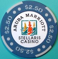 $2.50 Casino Chip. Stellaris, Aruba. N63. - Casino