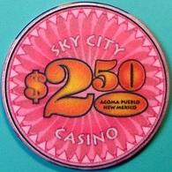 $2.50 Casino Chip. Sky City, Acoma, NM. N63. - Casino
