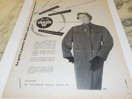 ANCIENNE PUBLICITE GRAND FAVORI DE L ELEGANCE WEILL  1954 - Non Classificati