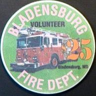 $25 Casino Chip. Bladensburg Fire Dept, Bladensburg, MD. N64. - Casino