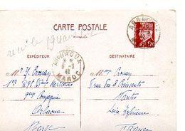 C14 1942 Entier Pétain Envoyé Du 1er RTM A ARBAOUA Pour La France - Marcophilie (Lettres)