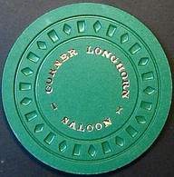 50¢ Casino Chip. Corner Longhorn, Rocklin, CA. N64. - Casino