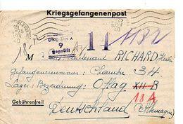 C14 1940 Lettre Prisonnier De Guerre OFLAG XII B Barré POUR OFLAG XVIII A Pour La France - Marcophilie (Lettres)
