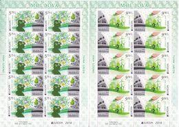 2016 ,  MOLDOVA  , MOLDAVIE , EUROPA CEPT , THINK GREEN , 2 Sheetlets , MNH - Europa-CEPT