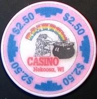 $2.50 Casino Chip. Rainbow, Nekoosa, WI. N64. - Casino