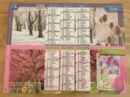 Calendrier-Almanach Des Postes P.T.T.     2018   Eure - Kalender