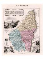 Carte Du Département De L'Ardèche, Dressée Par Vuillemin. Atlas Migeon 1874-76. - Carte Geographique