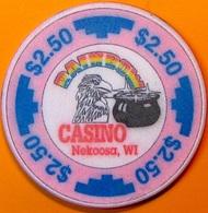 $2.50 Casino Chip. Rainbow, Nekoosa, WI. N65. - Casino