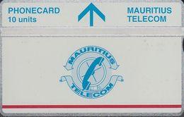 Mauritius L&G Mau 21  Telecom's Logo 10 Units - Red Line Under Logo 410A - Maurice