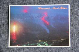 CHAMONIX - Trace Historique De La 1ère Ascension Du MONT BLANC Illuminée. - Chamonix-Mont-Blanc