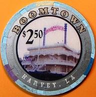$2.50 Casino Chip. Boomtown, Harvey, LA. N65. - Casino