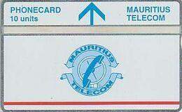 Mauritius L&G Mau 21A  Telecom's Logo - 10 Units - Red Line Under Logo 502B - Maurice