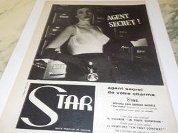 ANCIENNE PUBLICITE SOUS VETEMENT  STAR 1955 - Other