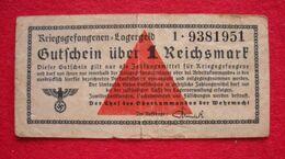 Ww2 Billet Allemand Argent Du Camp Prisonnier De Guerre Kriesgefangenen Lagergeld 1 Reichsmark Wehrmacht - Altri – Europa