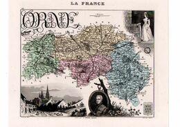 Carte Du Département De L'Orne, Dressée Par Vuillemin. Atlas Migeon 1874-76. - Carte Geographique