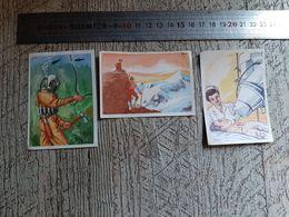 3 Images Publicitaires Biscottes Luc Pour Album à Compléter Illustrateur Riky Tours - Old Paper