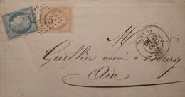 R1286/263 - CERES N°59 + 60A Sur ✉️ (LSC) - LYON 19 OCTOBRE 1871 à BOURG EN BRESSE (Ain) - 1871-1875 Ceres
