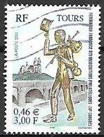 FRANCE   -  2001 .  Y&T N° 3397 Oblitéré.    TOURS  /  Compagnonage - France