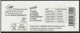 1216A-C3 CARNET MARIANNE DE CIAPPA BLEU EUROPE LOGO - Markenheftchen