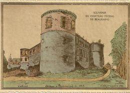 Souvenir Du Château Féodal De BEAURAING. Oblitération Liège Et Beauraing 1942. - Gruss Aus.../ Grüsse Aus...
