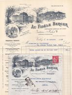 21210# PAIX 283 LETTRE PUBLICITE AU FIDELE BERGER Obl VICHY ALLIER 1932 RETOUR ENVOYEUR 33 - 1921-1960: Moderne