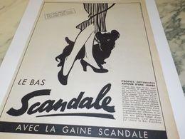 ANCIENNE  PUBLICITE LE BAS  SCANDALE  1952 - Other