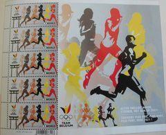 2020 Sport Olympic Olympique Japan Atletiek Sheet  MNH !!! - Belgio