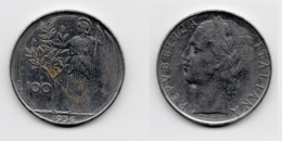 100 Lire – Italie – 1956 – Minerve – Acier – Etat TTB – KM 96.1 - 1946-… : Republic