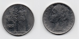 100 Lire – Italie – 1958 – Minerve – Acier – Etat TTB – KM 96.1 - 1946-… : Republic