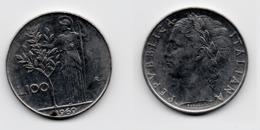 100 Lire – Italie – 1969 – Minerve – Acier – Etat TTB – KM 96.1 - 1946-… : Republic