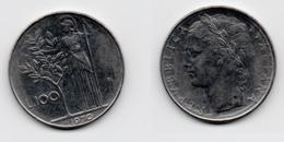 100 Lire – Italie – 1970 – Minerve – Acier – Etat TTB – KM 96.1 - 1946-… : Republic