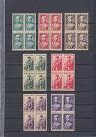 South Vietnam 1954 Prince Bao Long Full Set In Blocks X4 Sc#20-26 MNH - Vietnam