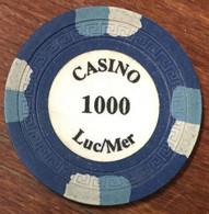 14 LUC SUR MER JETON DE CASINO DE 1000 FRANCS CHIP TOKEN COIN - Casino