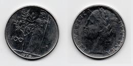 100 Lire – Italie – 1976 – Minerve – Acier – Etat TTB – KM 96.1 - 1946-… : Republic