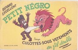 BUVARD -LE PETIT NEGRO  CULOTTE - SOUS-VETEMENTS - EN FILS DOUBLE - LION JEUNE FILLE NOIRE - Vestiario & Tessile