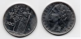 100 Lire – Italie – 1977 – Minerve – Acier – Etat TTB – KM 96.1 - 1946-… : Republic