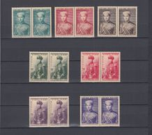 South Vietnam 1954 Prince Bao Long Full Set In Blocks X2 Sc#20-26 MNH - Vietnam