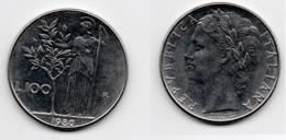 100 Lire – Italie – 1980 – Minerve – Acier – Etat TTB – KM 96.1 - 1946-… : Republic